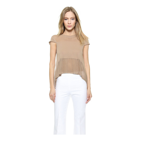 VIKTOR & ROLF Cap sleeve pointelle top - This charming VIKTOR & ROLF top is detailed with delicate...