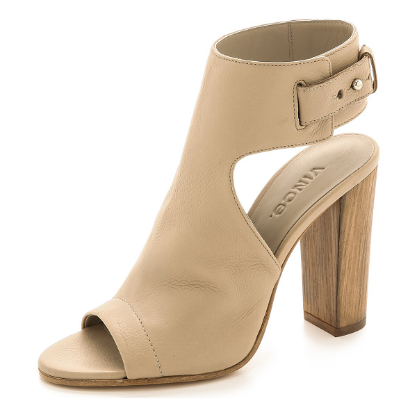 VINCE Addie open toe booties - These sophisticated Vince heels are crafted from soft...
