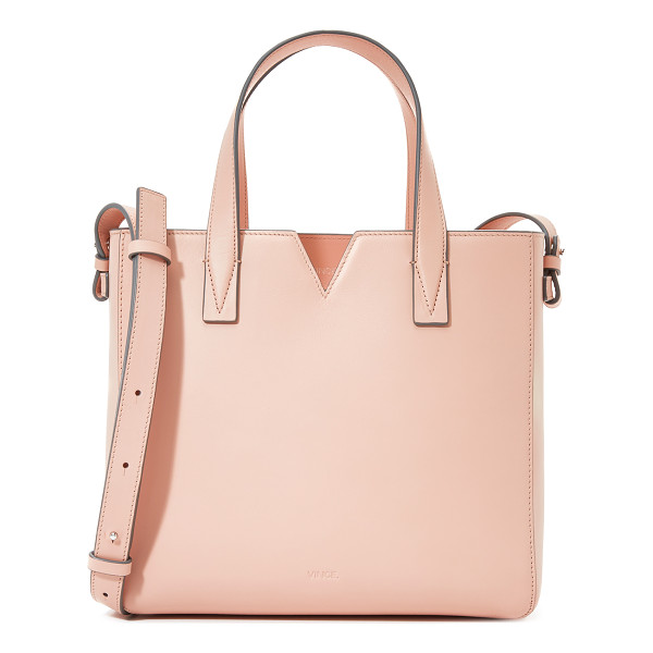 VINCE Baby tote - A boxy Vince tote in smooth leather. Notched top line. The