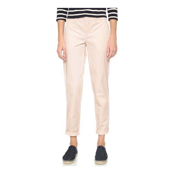 VINCE Boyfriend trousers - Soft twill Vince chinos in a relaxed, boyfriend silhouette....