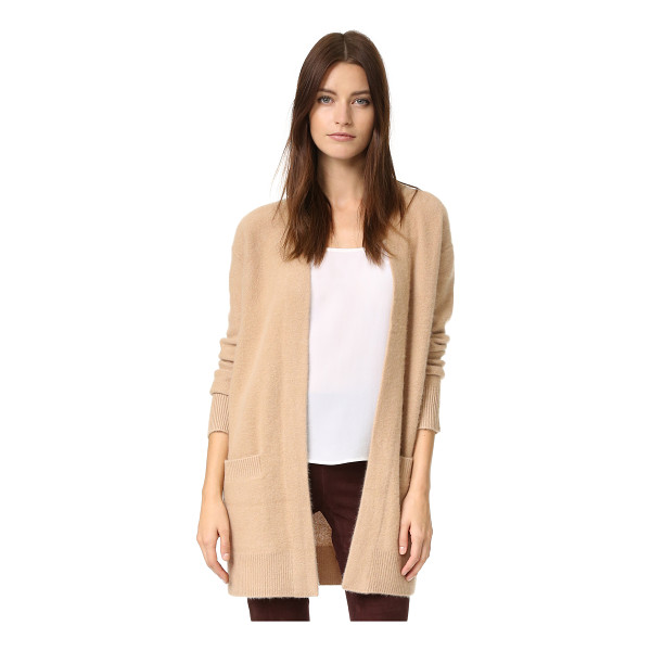 VINCE Vince Boiled Cashmere Robe Cardigan - A cashmere Vince cardigan with welt hip pockets and an open...