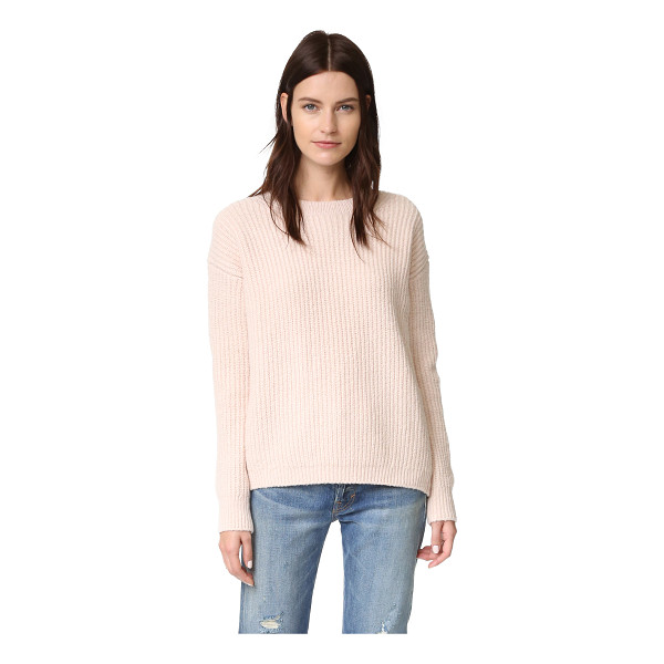 VINCE Crew Neck Sweater - A boxy Vince sweater in a super soft cashmere blend. Ribbed...