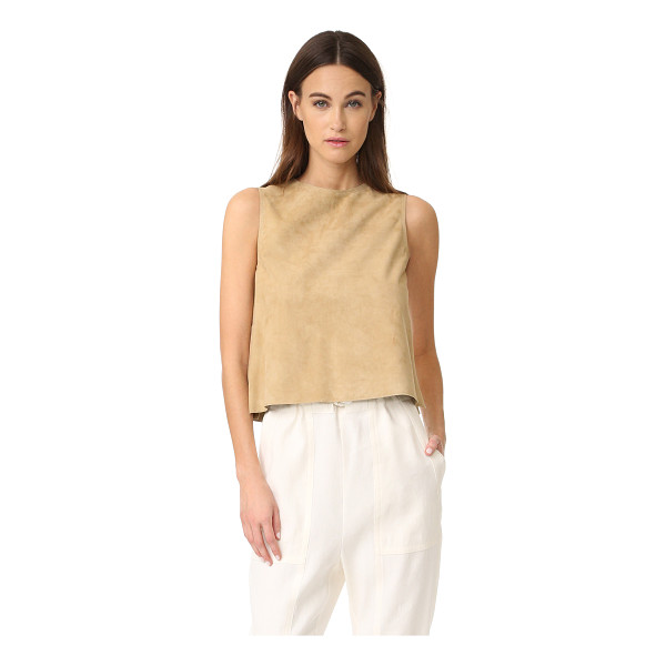 VINCE cropped suede shell - A simple Vince shell feels chic in luxuriously soft suede....