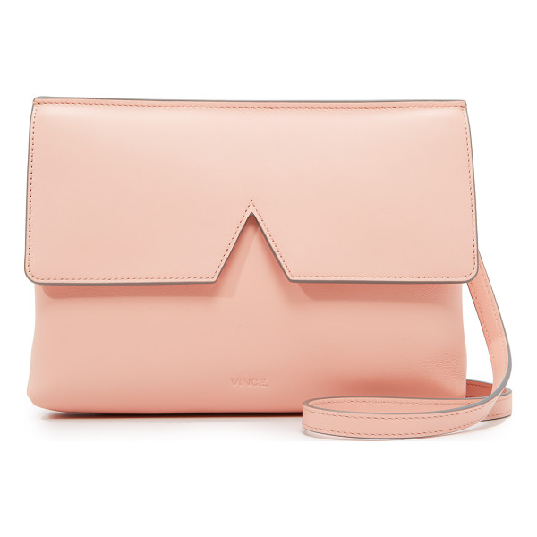 VINCE Cross body bag - A Vince handbag with a notched, magnetic top flap. Lined
