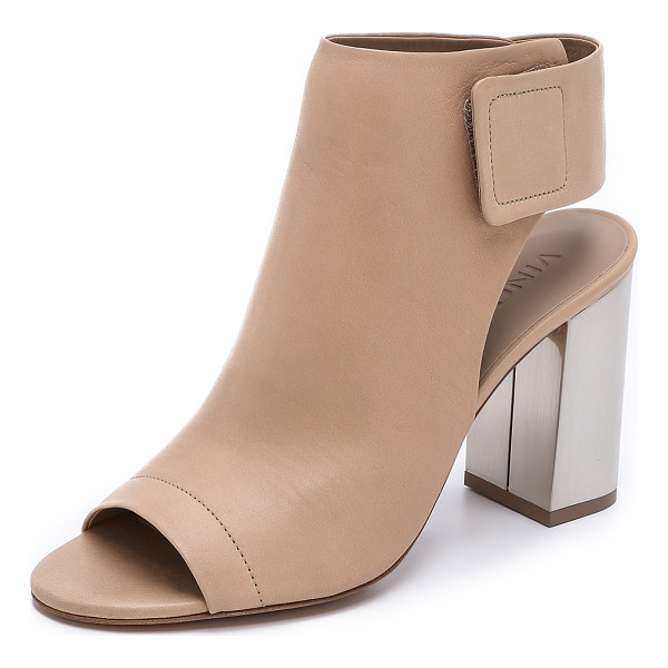 VINCE Faye open toe booties - Open toe Vince booties have a modern look with a sleek...
