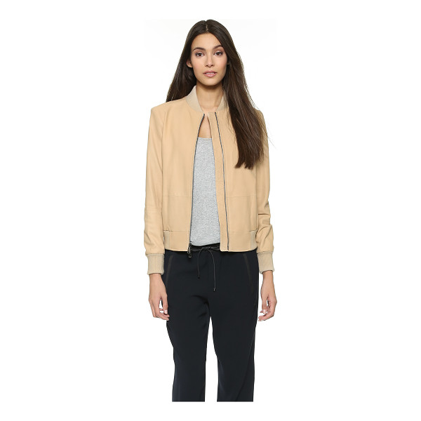 VINCE Leather bomber jacket - This Vince jacket is cut from lightweight nubuck for a...