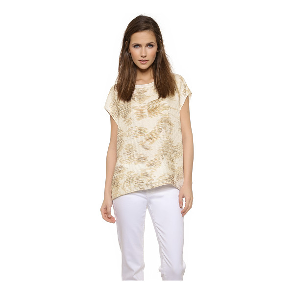 VINCE Marble jacquard silk tee - Jacquard stitching creates a faceted effect on this silk...