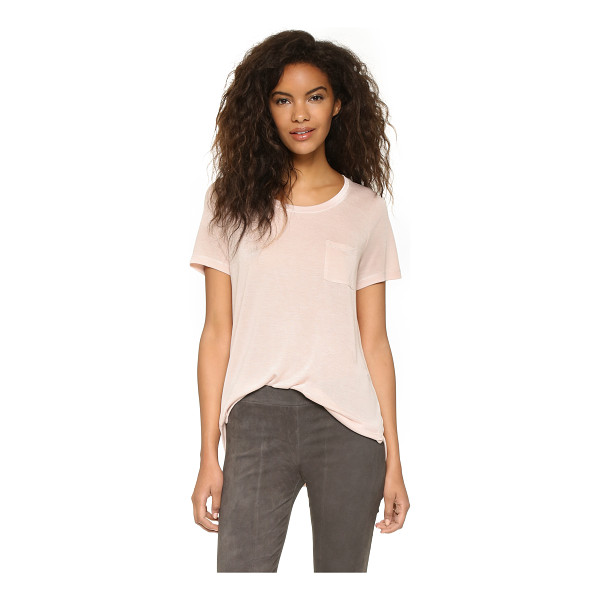 VINCE Pocket tee - A slouchy Vince tee in a relaxed boyfriend silhouette....