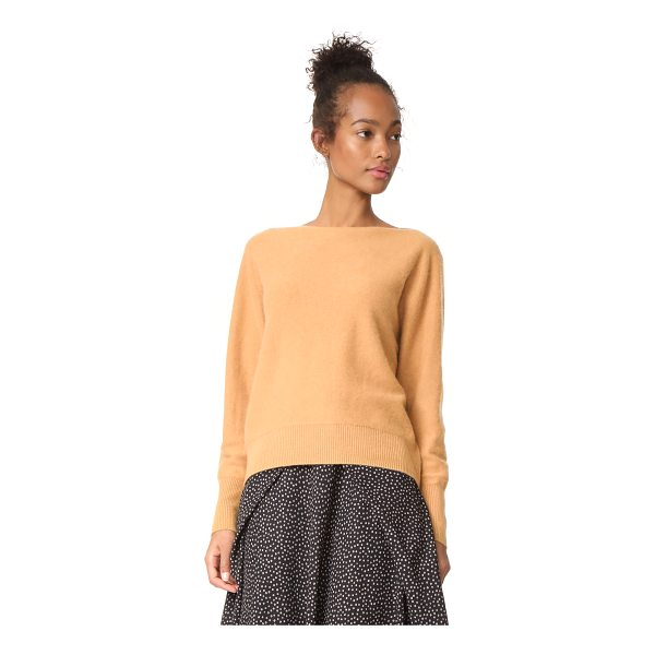 VINCE raglan cashmere sweater - Soft cashmere composes this relaxed Vince sweater. Boat...