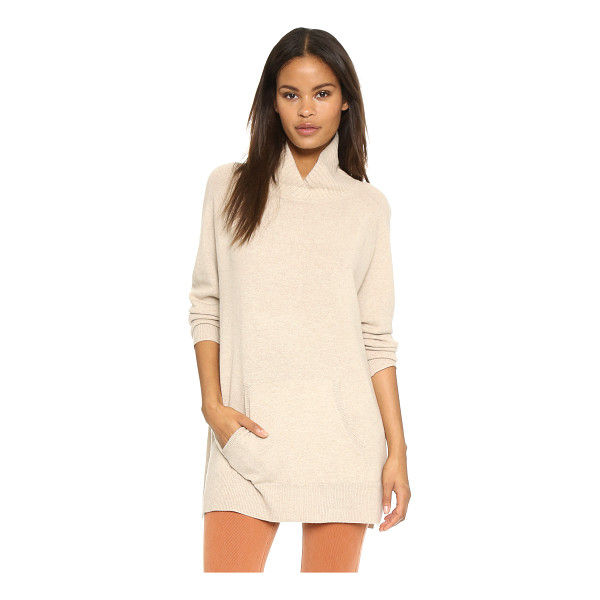 VINCE Rib neck pullover - An oversized Vince sweater in a luxe blend of natural...