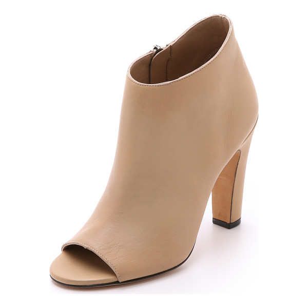 VINCE Sierra open toe booties - Versatile leather Vince booties with an open toe and...