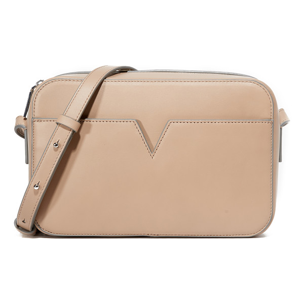 VINCE Signature camera bag - A sophisticated Vince bag detailed with a notched front