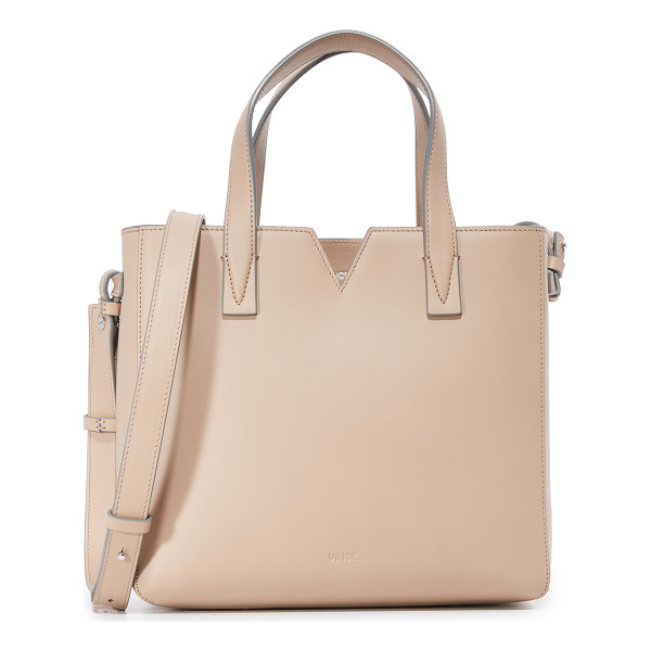 VINCE Signature mini east/west tote - A scaled down Vince tote with a notched top line. Inset top