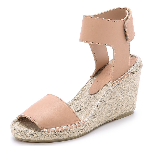 VINCE Sophie wedge espadrilles - Braided jute lends a relaxed feel to sturdy leather Vince...