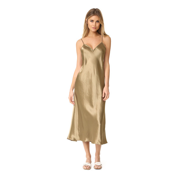 VINCE v neck slip dress - NOTE: Runs true to size. Slinky fabric accentuates the...