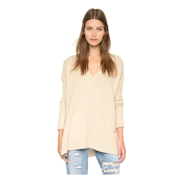VINCE V poncho sweater - A V neck Vince sweater in a luxe blend of natural fibers....