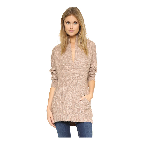 VINCE Zigzag stitch sweater - Zigzag stitching adds unique texture to this slouchy Vince...