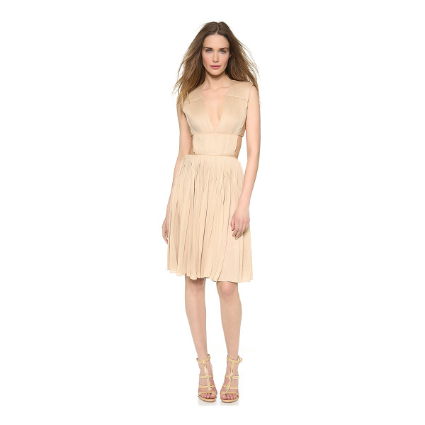 VIONNET Pleated jersey dress - This sexy, understated Vionnet cocktail dress has an...