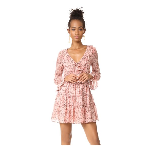 WAYF evelyn tiered mini dress - This floral WAYF mini dress is detailed with ruffles along...