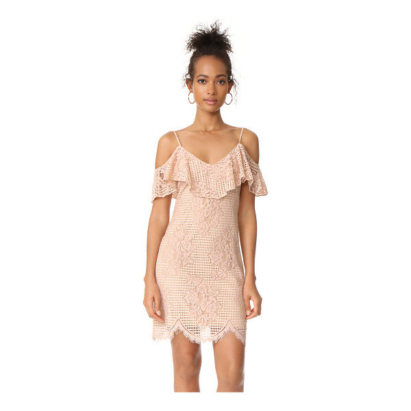 WAYF luxia off shoulder ruffle lace dress - A soft lace WAYF dress with a charming, ruffled...