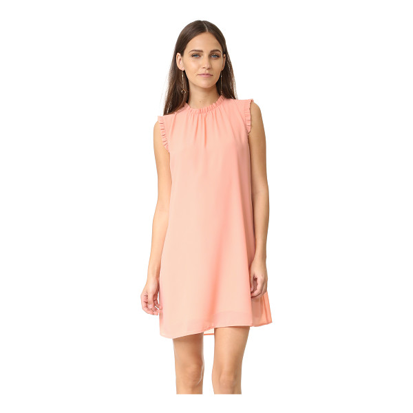 WAYF Ruffle tank dress - A simple WAYF shift dress, composed of delicate crepe and...