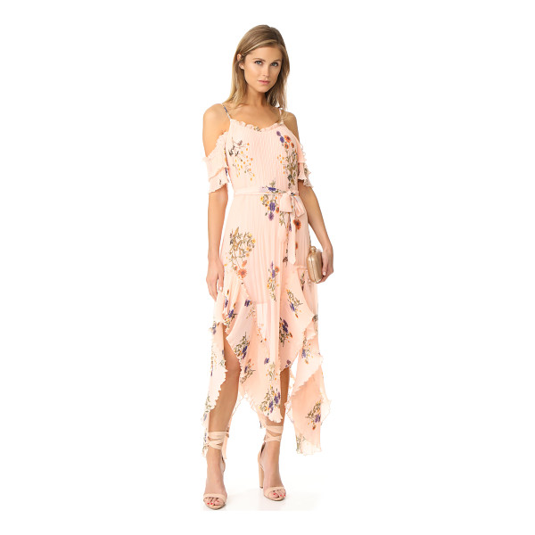 WE ARE KINDRED country field maxi dress - A mix of pleated and smooth panels gives this floral We Are...