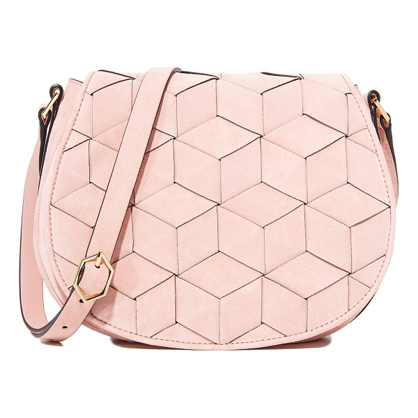 WELDEN escapade saddle bag - A structured Welden bag composed of woven leather. Magnetic