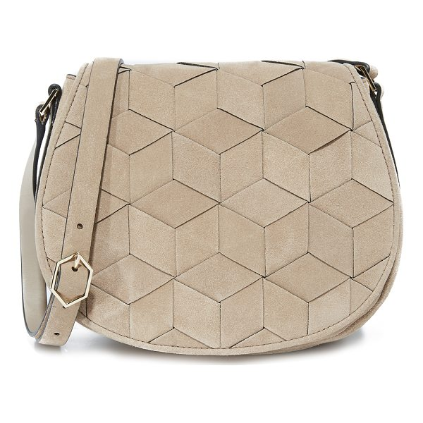 WELDEN escapade saddle bag - A structured Welden bag composed of woven suede. The