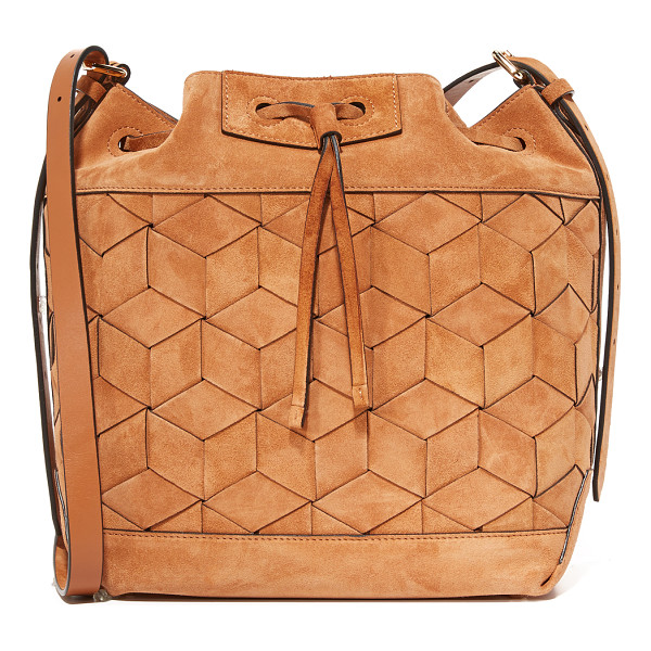 WELDEN gallivanter bucket bag - A suede Welden bucket bag with the brand's signature woven