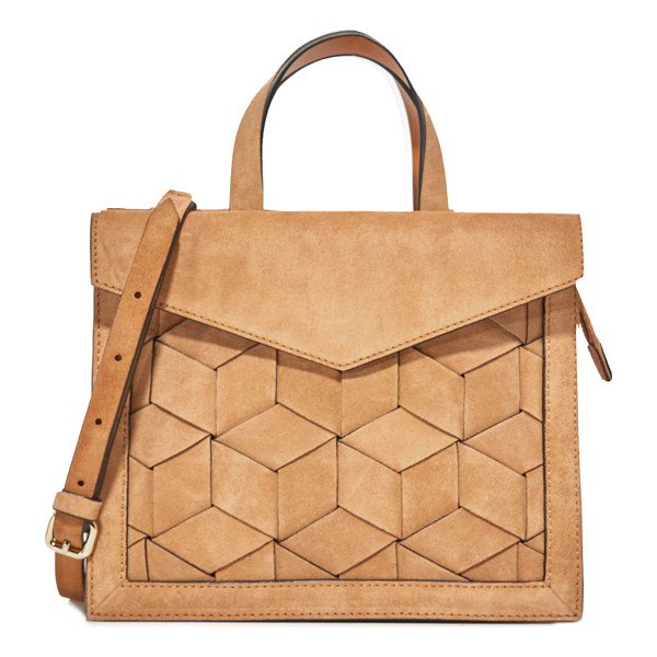 WELDEN voyager small flap satchel - A structured Welden satchel in woven suede. A magnetic flap