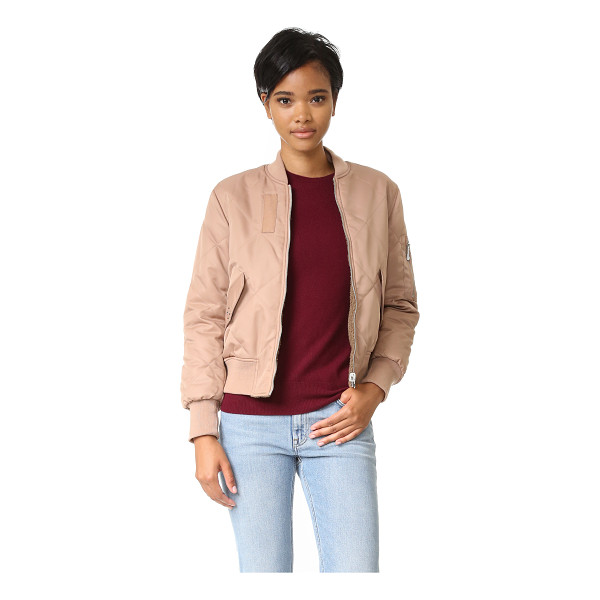 WHISTLES Carter reversible bomber jacket - Lattice quilting accents this reversible, fiber filled...