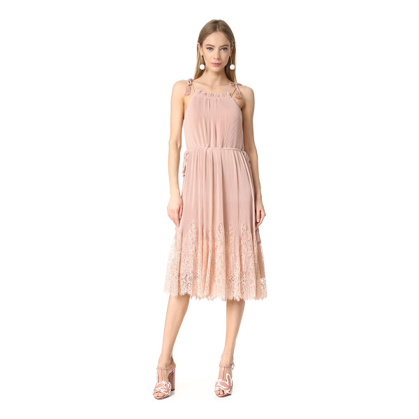 WHISTLES lillan pleated lace mix dress - NOTE: Sizes listed are UK. Petite accordion pleats and a...