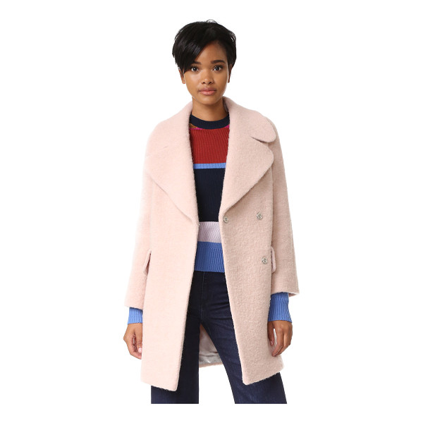 WHISTLES penny double coat - A brushed finish lends cozy texture to this weighty...