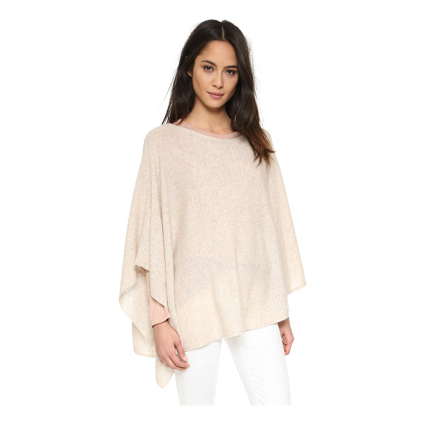 WHITE + WARREN 3 way cashmere poncho - An asymmetrical White + Warren poncho, composed from...