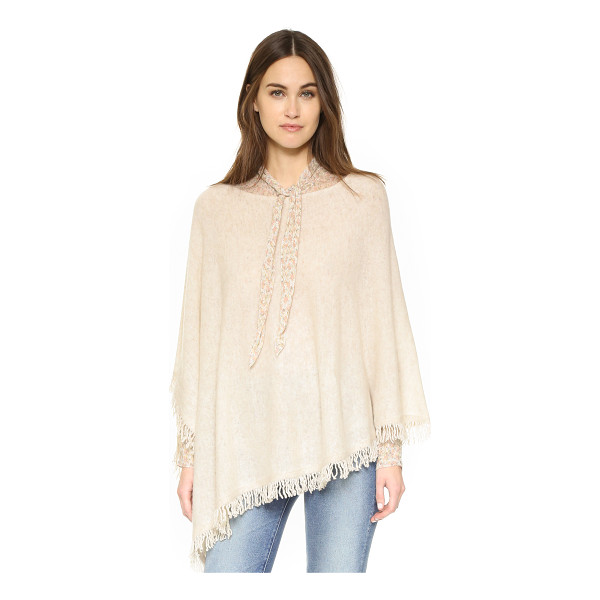 WHITE + WARREN Cashmere fringe poncho - A slouchy White + Warren poncho in luxe cashmere. Fringe...