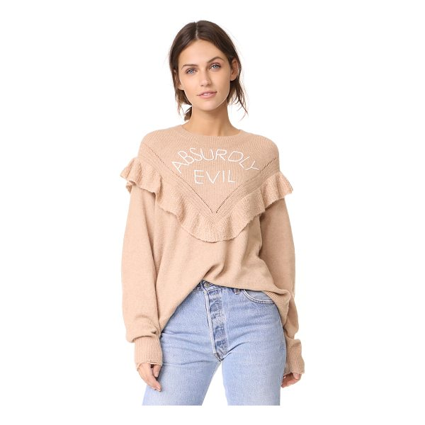 WILDFOX absurdly evil ryder sweater - This oversized Wildfox sweater is detailed with 'Absurdly...