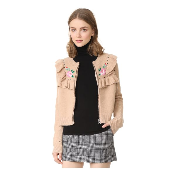 WILDFOX bed of roses elliot jacket cardigan - Ruffles and embroidered roses lend a charming touch to this...