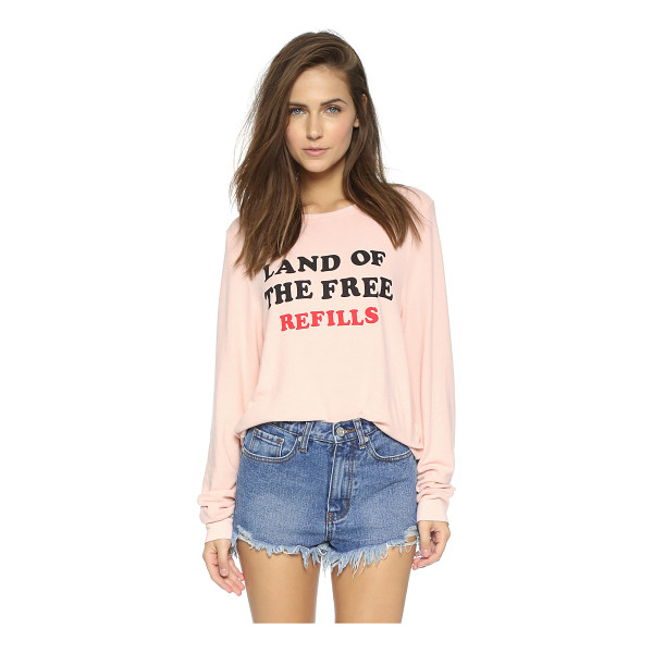 WILDFOX Free refills baggy beach sweatshirt - A cheeky phrase details this soft french terry Wildfox...