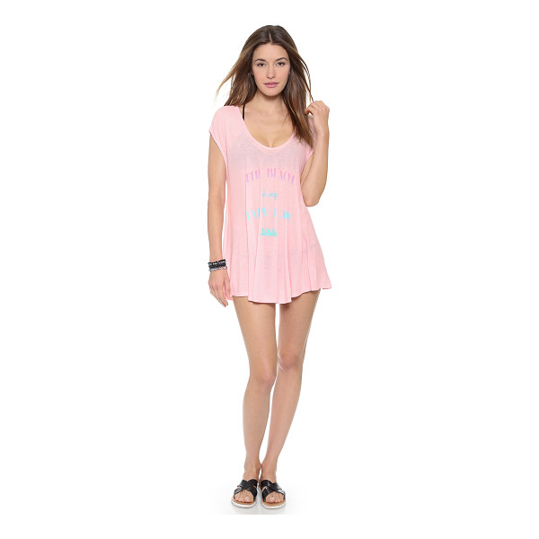 WILDFOX Happy place beach tunic - 'The Beach Is My Happy Place' lettering brings charm to...