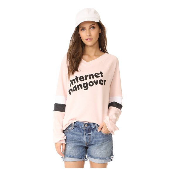 WILDFOX internet hangover sweatshirt - Bold 'internet hangover' lettering adds a playful touch to...