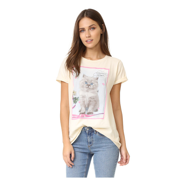 WILDFOX Stressin crew tee - A retro kitten graphic and 'Stressing meowt' lettering...