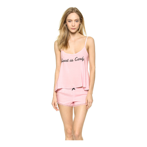 WILDFOX Sweet as candy pj set - 'Sweet as candy' lettering lends playful sentiment to the...