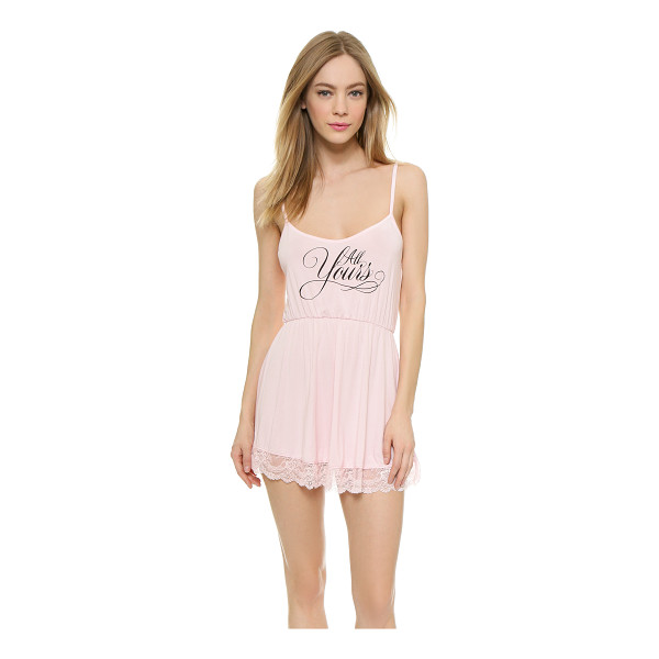 WILDFOX Wedding night lace chemise - A flirty Wildfox chemise made from soft jersey. Elastic...