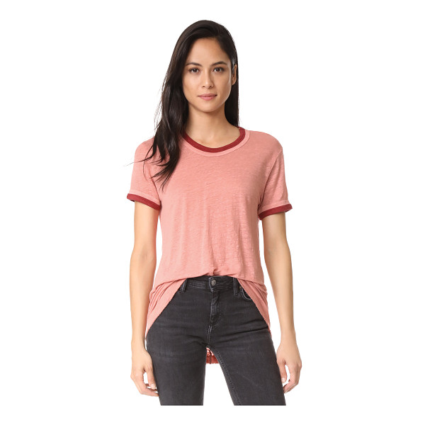 WILT easy color contrast tee - Slinky, slubbed linen lends a relaxed hand to this Wilt...