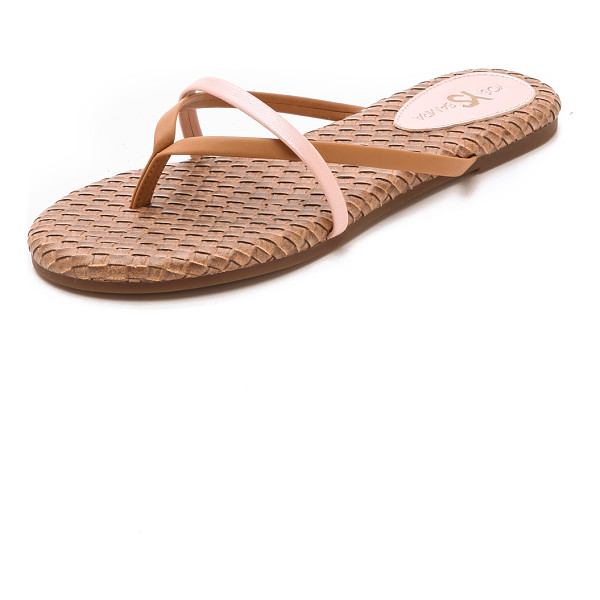 YOSI SAMRA River flip flops - Slim, two tone faux leather straps lend a polished feel to