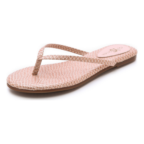 YOSI SAMRA Roee flip flops - Metallic foil accentuates the scale embossed texture of...