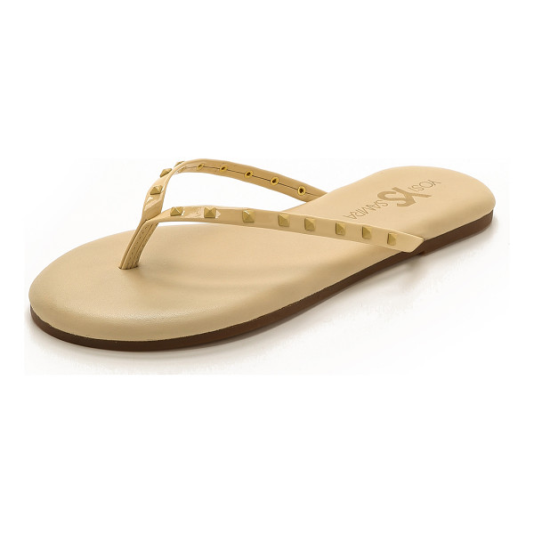 YOSI SAMRA Roee studded flip flops - Studs accent the straps of these Yosi Samra flip flops. A...