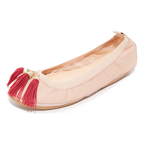 YOSI SAMRA sabrina tassel flats - Colorful tassels detail the vamp on these foldable leather...