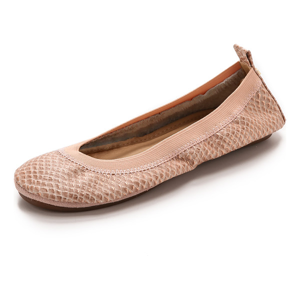 YOSI SAMRA Samara metallic snake flats - Metallic foil accentuates the scale embossed texture of