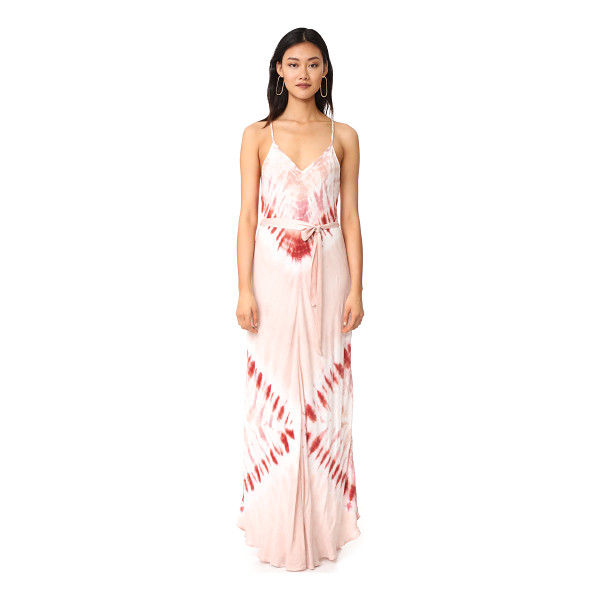 YOUNG FABULOUS & BROKE carla maxi dress - A hazy tie-dyed wash lends a beachy look to this racer-back...